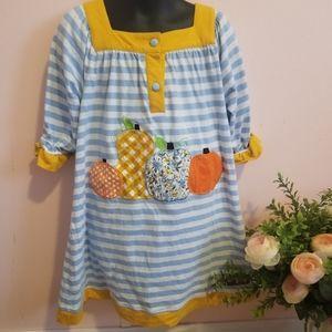 Millie Jay pumpkin perfection applique dress